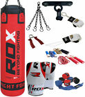 RDX 9 Piece Boxing Set 5FT 4FT Filled Heavy Punch Bag,Gloves,Bracket MMA Stand R