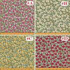 "MAKOWER ""SUMMER GARDEN"" ROSES FLORAL FABRICS 1/2 YD 18""X44"" (MAKE A SELECTION)"