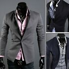 US FAST! New ! Stylish Men's Casual Slim fit One Button Suit Blazer Coat Jackets