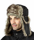 Mens Trapper Hat ProClimate New Faux Fur Lined Warm Outdoors Winter Accessory