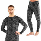 Mens Pro Climate Camo Long Johns Leggings Long Sleeved Under Layer Thermal Top