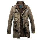 WINTER PROMOTION Milltary Vintage Men Cowboys Warm Thick Coat Jackets Overcoat