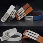 2015 New Fashion Men and Women Leather Waistband S Shape Buckle Belt Wide Belts