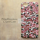 ED Light Pink Bling Crystal Gems DIY Hard Skin Case Cover For iPhone Nokia Sony