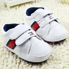 Toddler Baby boy White crib shoes casual shoes Sports shoes size 0-6-12-18 month