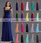 New Long Evening Formal Ball Gown Prom Wedding Party Bridesmaid Dress Size 6-18