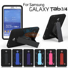 Hybrid Rugged Stand Cover Hard Case for Samsung Galaxy Tab 3 4 P3200 SM-T230NU