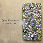 ED Clear AB Bling Crystal Rhinestone Gem Hard Skin Case Cover For iPhone Samsung