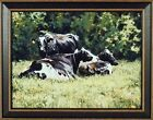 THE BEAUTIFUL COW by Bonnie Mohr FRAMED ART PRINT 15x19 Farm Animals Holstein