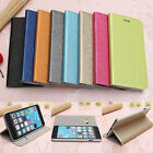Steel Wire Grain PU Leather Flip Wallet Card Stand Case For iPhone 6 Plus 5.5''