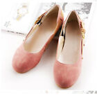 Womens Shoes Ballet Flats Comfort Buckle Loafers Scrub Leather Pumps Cute OL SH