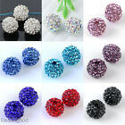 5pc 10mm Crystal Resin Disco Ball Charms Loose Bead For Bracelet Necklace Making