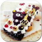 Kawaii Whip Cream Bear Unique Hand Craft Bling Hard Skin Case Cover For Samsung