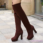 Womens Fashion Simple High Heel Shoes Platform Over The Knee Boots AU Size Y1190