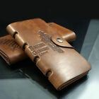 Mens Vintage Hunter Cowboy Genuine Leather Bifold Card Cluth Purse Wallet