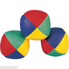 JUGGLING JUGGLE COLOURED BALLS CIRCUS CLOWN SET MULTICOLOURED SOFT TOY GAME NEW