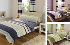 Contemporary Stripes Striped Duvet Quilt Cover Bedding Set Single Double King