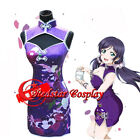 Love live Tojo Nozomi Girl Sexy Light Purple Dress cosplay costumes