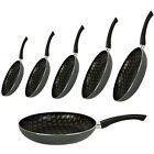 NON STICK FRYING PAN SILK SCREEN KITCHEN FRY COOKING EGG SURFACE INDUCTION NEW