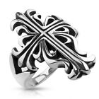 Large New Men's 316L Stainless Steel Celtic Cross Casted Ring - Sizes 7-13