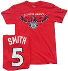 Atlanta Hawks Basketball NBA Smith Jersey Shirt Red New