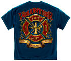 Volunteer Fire Department Print Both Side T-Shirt   SHIPS FAST