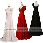 In Stock One Shoulder Bridesmaid Dresses Long Prom Evening Gown Girls Party Ball