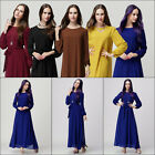 Fashion Girl Women Lady Long Sleeve Solid Long Dress Party Show Leisurely