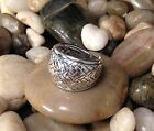 Sterling Silver .925 Big Bold Oxidized Braided Dome Weave Ring