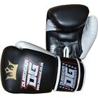 BLACK 'RAJA' SPARRING PADWORK GLOVES FOR MUAY THAI SPORTS TRAINING