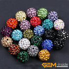 10mm Sparkle Pave Rhinestone Crystal Ball Beads For DIY Jewelry Making 10 Pcs