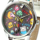 "Beautiful Watches Art-Deco Style ""Adventure Time"" Quartz Wrist Watch Free Ship"