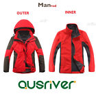 Premium New Fashion Men Outdoor Climbing Hiking Sport Travel Ski Jacket Coat Red