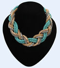 New Fashion Jewelry Twisted Chain Unisex Women Choker Braided Statement Necklace