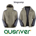 Premium KingCamp Outdoor Climbing Hiking Sports Travel Hood Ski Jacket Coat Grey