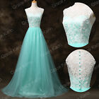 UK FAST Long Lace Evening Wedding Dress Party Ball Gown Bridesmaid Prom Dresses