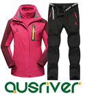 Premium Women Outdoor Waterproof Sport Ski Snow Climbling Jacket Pants Suit Coat