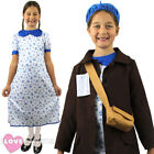 GIRLS WW2 EVACUEE COSTUME WORLD WAR 2 WARTIME CHILD 1930S 1940S FANCY DRESS