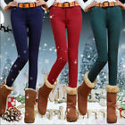 New Womens Ladies Warm Skinny Fleece Lined Thick Tights Stretch Pants Trousers