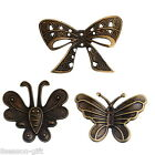 Bronze Tone Embellishment Findings Butterfly Shape For Jewelry DIY