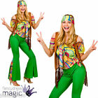 LADIES GIRLS TEEN 60s 70s GROOVY HIPPIE HIPPY 1960s RETRO FANCY DRESS COSTUME