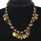 "35"" Sea Shell Beads Mother of Pearl Chain Wrap Necklace FW0533 limited offer"