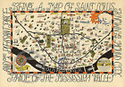 1950 Vintage Budweiser Wall Map of St Louis Missouri Anheuser Largest Size