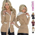Sexy Womens Cardigan Size 6 8 10 Jumper Sweater Jacket Hoodie Outerwear XS S M