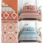 Moroccan Inspired Duvet Cover With Stylish Mosaic Tribal Pattern - Reversible
