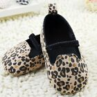 Infant baby girl Leopard crib shoes casual shoes size 0-6 6-12 12-18 months