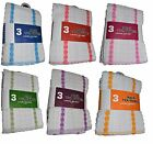 3 x EXTRA LARGE 100% COTTON TEA TOWELS SUPER ABSORBENT FAST QUICK DRYING CLOTHS