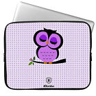 "Cute Owl 11-15.6"" Laptop Ultrabook Sleeve Case Bag For MacBook Pro Air Acer Dell"