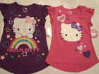HELLO KITTY S M L Pink Purple Choice Short Sleeve Cotton Everyday Shirt Top NWT