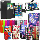"""Wallet Leather Case Flip Cover For Apple Iphone 6 Plus 5.5"""" With Screen Guard"""